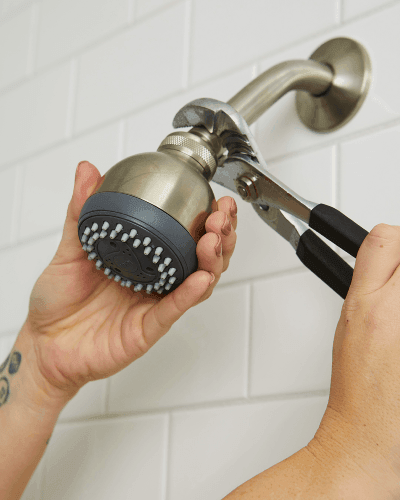 how to clean a shower head with baking soda