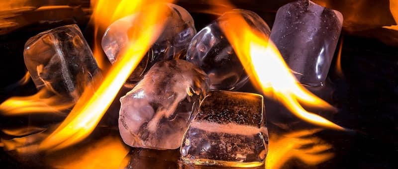 Heating up with Ice