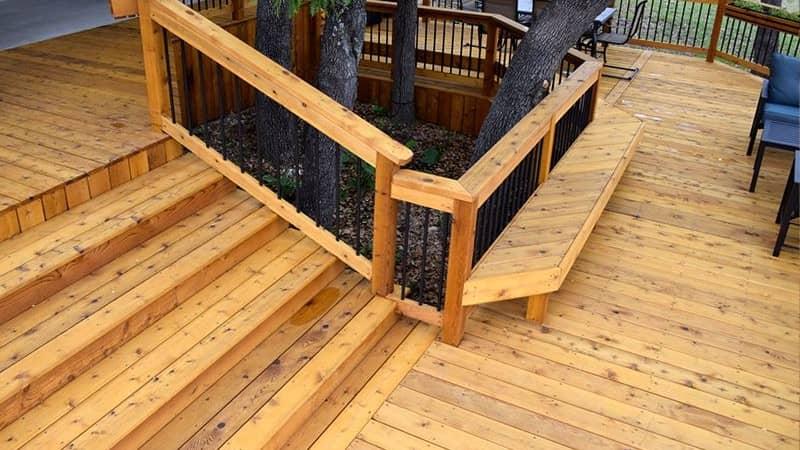 timber hardwood deck